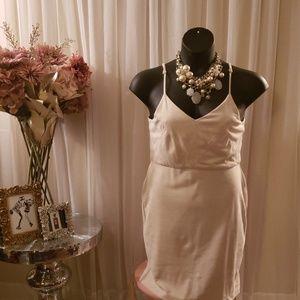 Cream suede like dress...